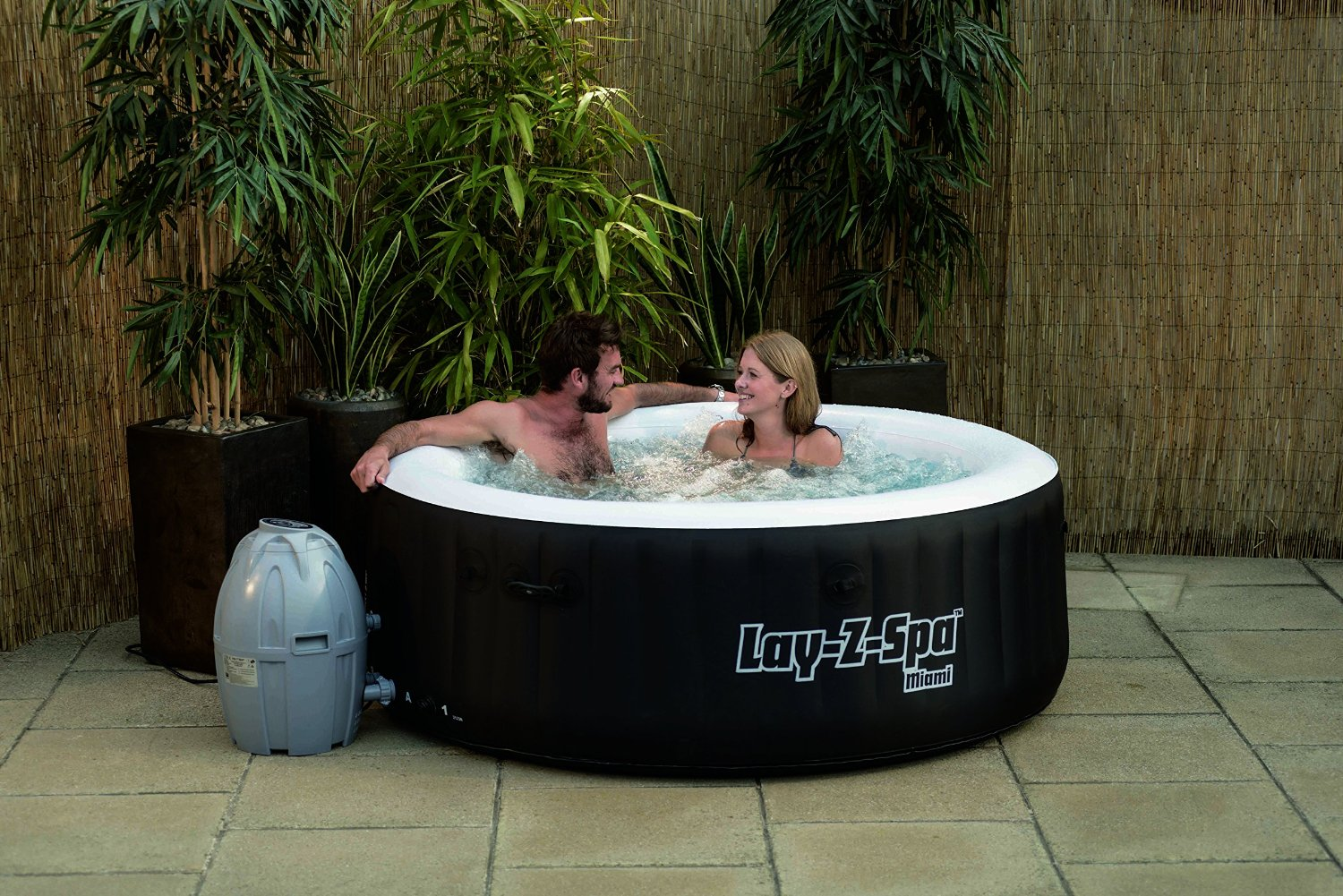 Cheap Hot Tubs Uk >> Lay Z Spa Miami Inflatable Hot Tub - Hot Tubs For Sale UK
